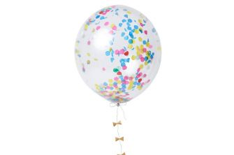 2 Clear Balloon with Colourful Confetti