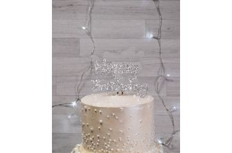 Silver 2D Personalized Topper