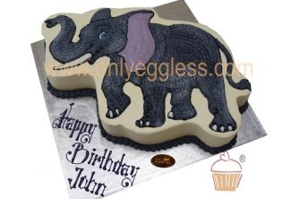 Starpiped Elephant Character Cake