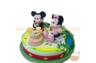 Mickey and Minnie with Cake Picnic Theme 2 (C155)