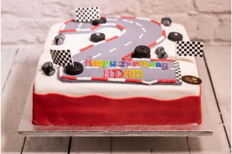 Race Track Number Cake (C264)