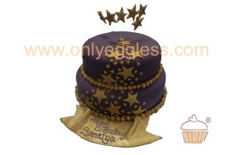 Star Stacked Iced Cake (C328)