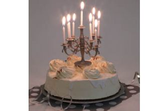 Silver Candleabra Candles (P401)