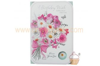A Birthday Wish Especially For You (Flower Bouquet Design) Greetings Card (CD280SE21263-1)