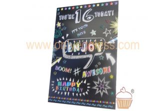 You are 16 Today! Enjoy Birthday Card (CD280SE22831-1)