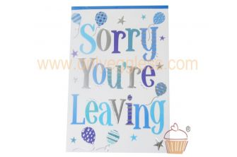 Sorry You Are Leaving Greetings Card (CDTDS10878)