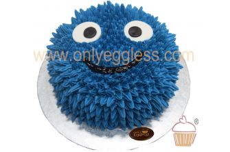 Starpiped Cookie Monster Theme Cake (C1471)