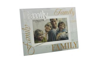 """Family glass picture photo frame 6""""x4"""" (G1023)"""