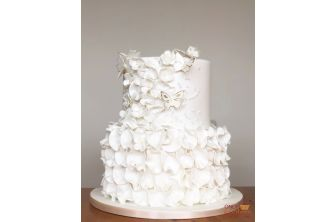 White Wedding and Floral Cake