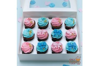 Gender Reveal & Baby Shower Cupcakes (A2329)