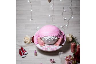 Baby Shower (Pink Blanket) Cake (A2005)