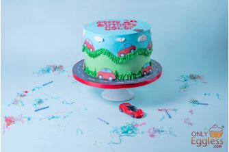 Little Red Car Cake (A903)