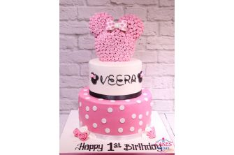 Pink Baby Minnie Mouse Girl's Birthday Cake