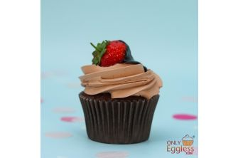 Chocolate Dipped Strawberry Cupcake (A1245)