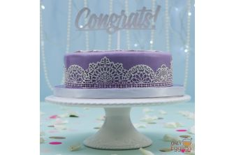 Laced Up Purple Cake (A2590)