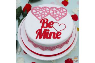 Laced Up Love Cake (A2593)