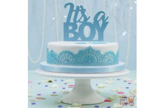 Laced Up White & Blue Cake (A2601)