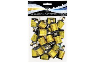 20 x Gold Party Poppers (P119)