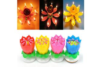 Musical Lotus Flower Candle (P220)