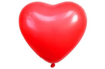Red Heart-shaped latex balloons