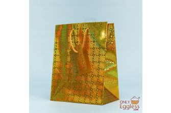 Small Portrait Gold Gift Bag (G1120)