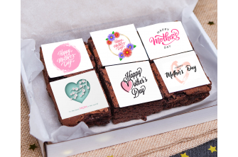 Vegan Mother's Day Chocolate Brownie (6 pieces) (V2564)