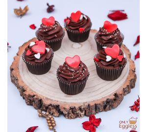 Valentine's Day Heart Cupcake Box of 6 (A2487)