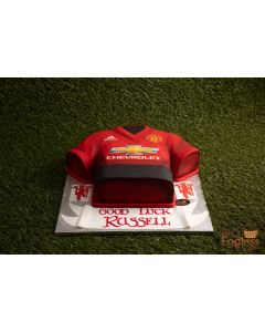 Manchester United Iced Football T-Shirt Cake (C1418)