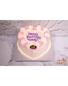 Love Heart Cake Pink Themed (C478)