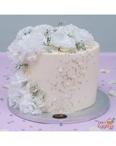White Flowers and Pearl Cake (A2710)