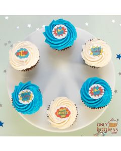 Super Dad Cupcake Selection - Box of 6 (A2727)