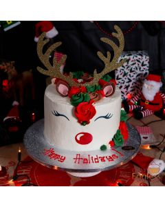 Rudolph The Red Nose Reindeer Cake (A2424)