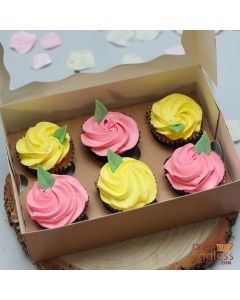 Eggless Mother's Day Cupcakes