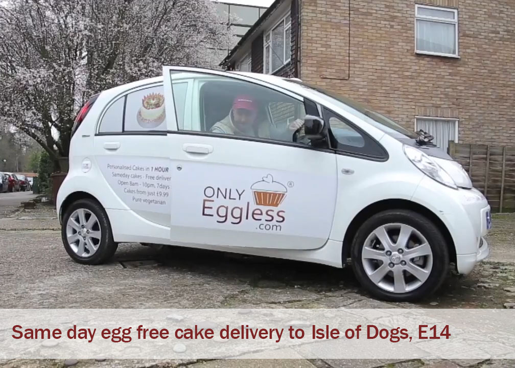 Sameday cake delivery Isle of Dogs , London, E14